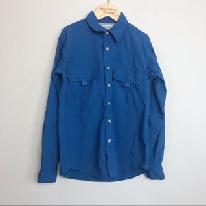 Columbia Blue Vented Button Down Shirt